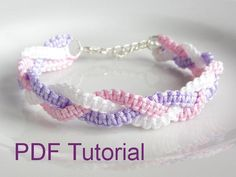 Braided Square Knot Macrame Bracelet - via @Craftsy