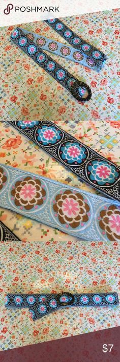 Guitar Strap Reversible Mandala Flower Belt Belts are for ballers! Spring siren, yoga interested and guitar novice. Home of cute dog and no smoke.   Free shipping over $30!! Buy $30 worth of swag and offer $6 less and I will accept. AKA, FREE SHIPPING! NA Other