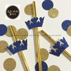 New glitter crown straws now available in our shop! Be sure to check back for matching items like cupcake toppers, wrappers and favors. We even have Prince inspired candy covered Oreos and cake pops to match your next Prince themed birthday or shower.