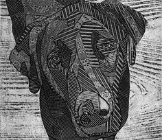 Lab Art Black Labrador Retriever Original Fine by bonniemurrayart, $69.00