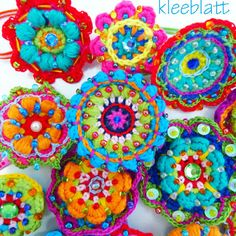 #colorful #crochet #mandala