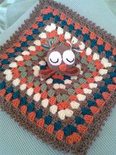 Crocheted Lovey Owl by GetTheeToAYarnery on Etsy