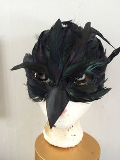 feather crow raven mask by CecilyRush on Etsy