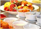 Una ricchissima colazione a buffet servita tutte le mattine dalle 7 alle 10