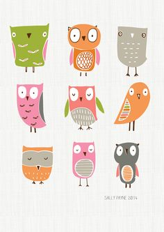 A collection of owls | sallypayne | Kids art and illustrations