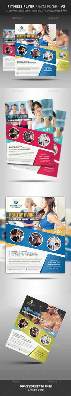 Fitness Flyer — Photoshop PSD #sports #spa • Available here → https://graphicriver.net/item/fitness-flyer/12413037?ref=pxcr