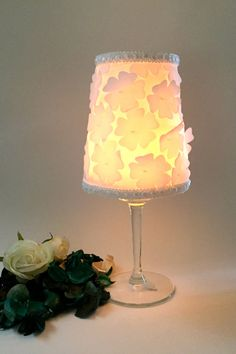 Tea light daisies Candle Holders Centerpiece by GamesOfLight