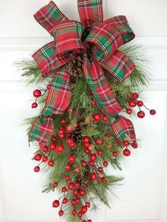 Christmas Swag, Christmas Wreath, Holiday Swag, Christmas Decor by HeatherKnollDesigns on Etsy