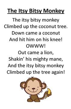 Itty Bitty Rhyme: The Itsy Bitsy Monkey: