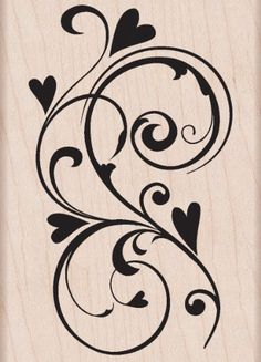 Shop for Hero Arts 'Heart Flourish' Wooden Stamp. Get free delivery On EVERYTHING* Overstock - Your Online Scrapbooking Shop! Swirl Design, Web Design, Stencils, Stencil Patterns, Scroll Design, Hero Arts, Arabesque, Pyrography, Clipart