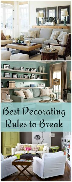 The Best Decorating Rules to Break. The Best Decorating Rules to Break! My Living Room, Home And Living, Living Room Decor, Living Spaces, Decorating On A Budget, Interior Decorating, Interior Design, Home Staging, Home Renovation