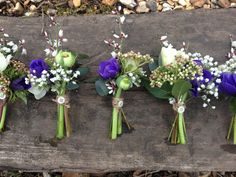 Buttonholes in blue