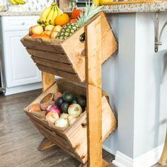 DIY Two-Tier Wood Produce Stand | Craft Gawker | Bloglovin'