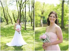 A rustic pink wedding filled with burlap and baby's breath and featuring a bride with braided hair. All captured beautifully by Live View Studios.