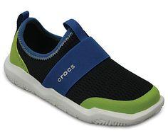 2164f60da73577 Crocs Children s Swiftwater Easy-on Shoe Kids - Black Ocean Comfort Shoes