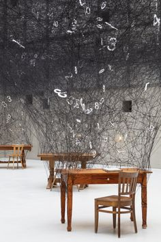 An Interactive Installation by Chiharu Shiota Celebrates the Universality of Numbers Pop Illustration, Sculpture Art, Japanese Artists, Black Metal Art, Interactive Installation, Colossal Art, Installation, Contemporary Art, Street Art