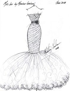 sketches of dress designs | Photo: courtesy of Madeline Gardner for Mori Lee