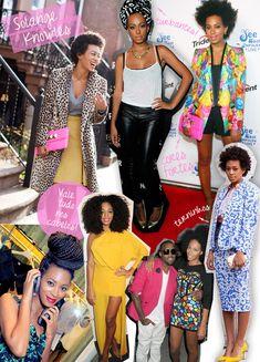 Solange é uma das provas que estilo pode ser coisa de DNA, sim. Irmã de Beyoncé, a cantora e modelo desbancou a sister mais velha do trono fashionista, ao desfilar por aí stylings originais e impecáveis. No checklist da moça estão looks coordenados, cores fortes (mesmo que pontuando as produções), blazers e estampas maximalistas. Nos cabelos, vale tudo! Raspado, black, trança, apliques encaracolados e lisos, além dos turbantes, ótimos para o bad hair day.