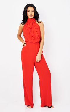367a18db79d So They Say Greta Jumpsuit Red - SilkFred
