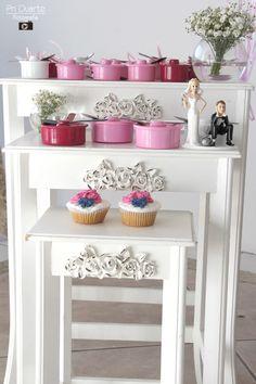 Chá de Panela Azul Marinho e rosa