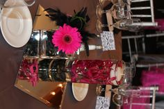 Hot pink and black wedding flowers and feathers- exactly what I want! Cute Wedding Ideas, Perfect Wedding, Our Wedding, Dream Wedding, Wedding Inspiration, Zebra Wedding, Wedding Black, Wedding Stuff, Pink Gerbera