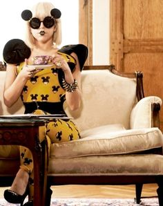Lady GaGa  I love her and her sunglasses.