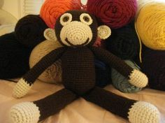 if i could crochet, i'd buy this pattern so i could make this sweet monkey doll.