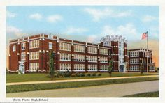 North Platte High School, vintage color postcard packet, 1957 | North Platte, Nebraska - Buffalo Bill's Hometown, 1957 - Vintage Curt Teich & Co. Postcard foldout packet. | pinned by haw-creek.com