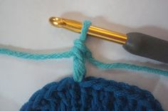 GoCrochet: Standing Double Crochet join , Changing Color, Adding New Yarn to Crochet