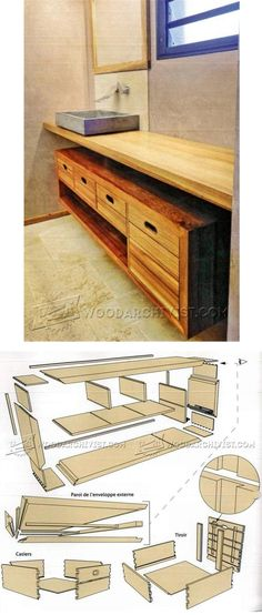 Bathroom Vanity Plans - Furniture Plans and Projects | WoodArchivist.com