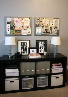 This is epic storage! >> I have this!! Fun corkboard and table top decor - maybe would be cute with DIY chalkboards in fun stainless steel frames?