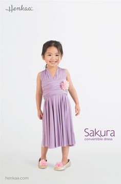 Learn to Style the Sakura Convertible Dress in the Anna Style - The Mini Sakura works perfectly as a Kids/Juniors Convertible Dress (so that the flowergirl can match the bridesmaids in a wedding party!)