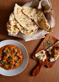 Curry with Naan bread.
