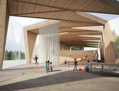 Centre Nautique - Tank Architectes Base Nautique, Architecture, Outdoor Decor, Halles, Design, Techno, Schools, Home Decor, Store