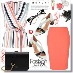 Monday Business by queenvirgo on Polyvore featuring мода, New Look, Elizabeth and James, Robert Clergerie, Mulberry…