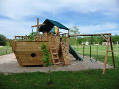 new pirate ship on playground!
