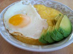 polenta + egg + avocado