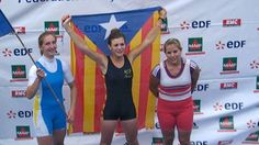 Una remadora nord-catalanaMarie Geoffroy    llueix amb orgull l'estelada en un campionat de França