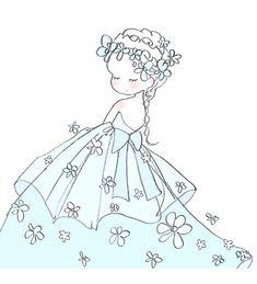 Girly Drawings, Anime Drawings Sketches, Cute Kawaii Drawings, Kawaii Art, Kawaii Anime, Pretty Art, Cute Art, Anime Chibi, Anime Art