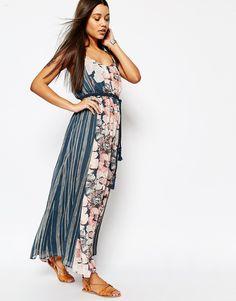Abercrombie+&+Fitch+Chiffon+Maxi+Dress+With+Rope+Belt