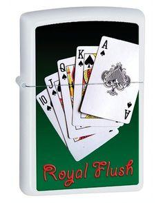 Zippo Royal Flush White Matte Lighter