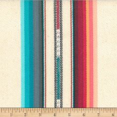Designed by Laura & Kiran, this beautifully yarn dyed and hand woven fabric features a lovely textured hand and saturated hues that will transport you to the Mayan ruins of Chichen Itza. This heavyweight fabric is perfect for upholstery projects, toss pillows, and more! Colors include cream, red, pink, peach, green, brown, teal, and aqua.