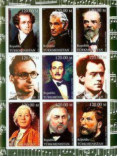 Great Composers On Stamps 20D-007