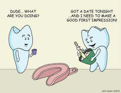 """""""Good impression"""" dental humor."""