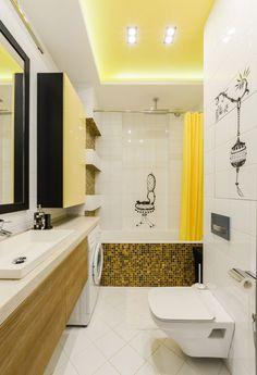 Apartament de 2 camere amenajat modern cu accente de galben - imaginea 26