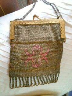 French beaded antique purse