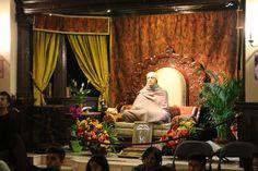 Bhaktivedanta Manor. A statue of A. C. Bhaktivedanta Swami Prabhupada