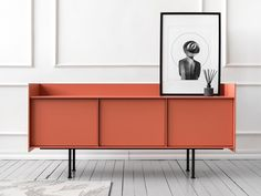 Lacquered sideboard with doors Cabinet Furniture, Metal Furniture, Cool Furniture, Modern Furniture, Furniture Design, Futuristic Furniture, Chair Design, Sideboard Modern, Metal Sideboard