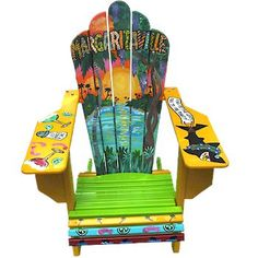 Custom Painted Margaritaville Adirondack Chairs  margaritavillestore.com