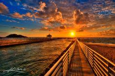 ~ Sunrise At The Inlet Jetty ~  By Kim Seng (Captain Kimo)  Taken on: March 11, 2012 Location: Boynton Beach, Florida